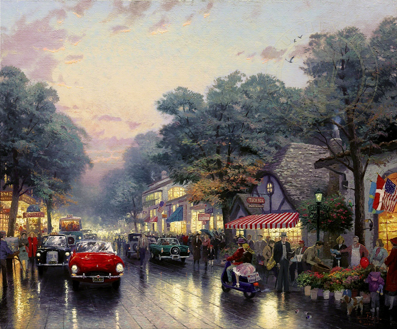 Dolores Street and the Tuck Box Tea Room in Carmel, California