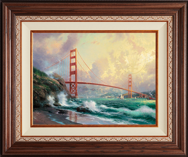 Golden Gate Bridge, San Francisco- Deluxe Walnut-New Walnut