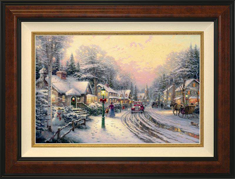Village Christmas -- Burlwood