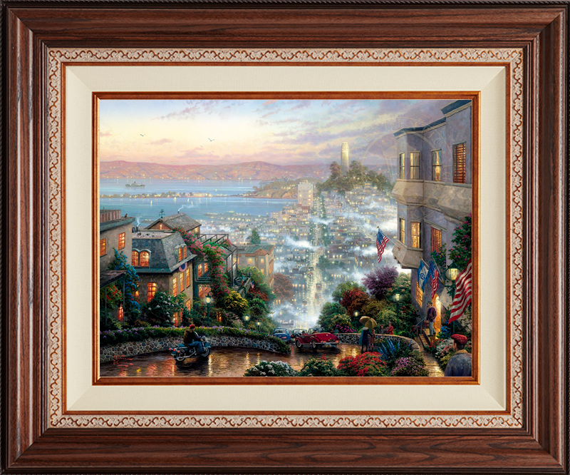 San Francisco, Lombard Street - Deluxe Walnut-New Walnut