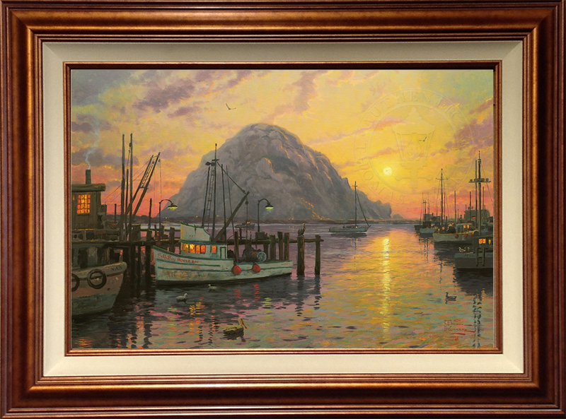 Morro Bay at Sunset - Copper