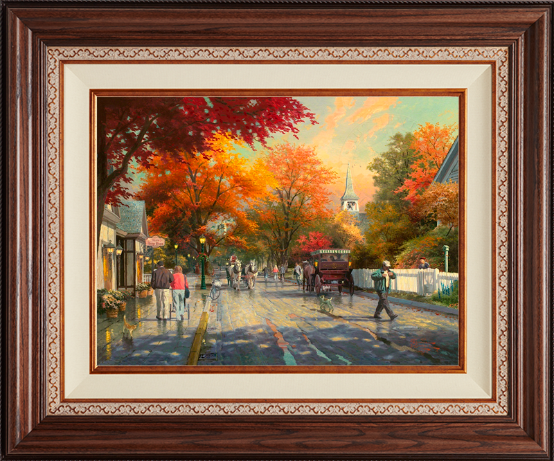 Autumn on Mackinac Island -- Deluxe Walnut