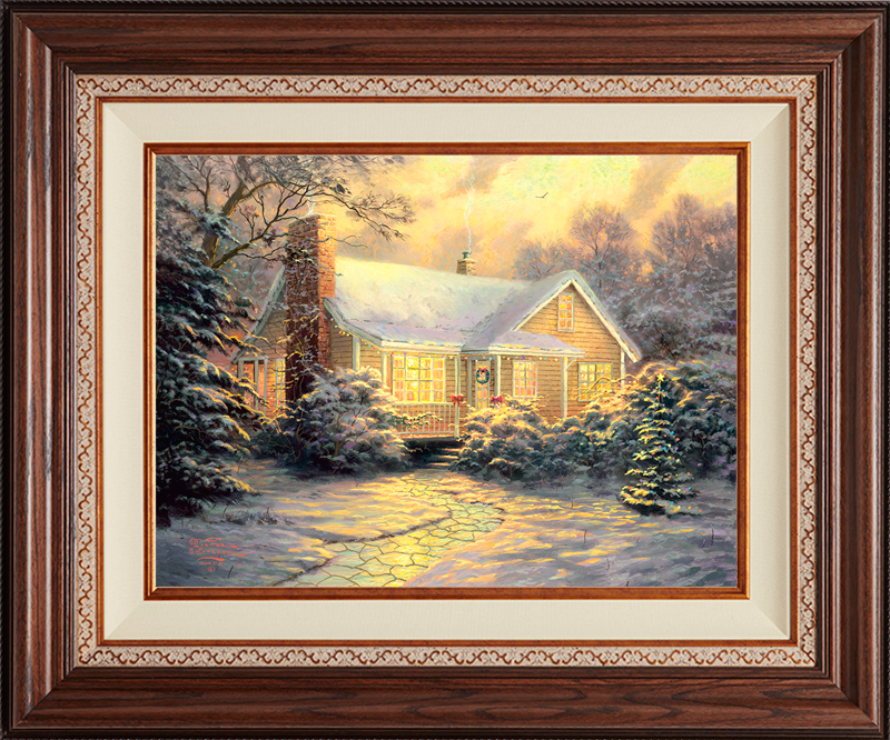Christmas Cottage - Deluxe Walnut