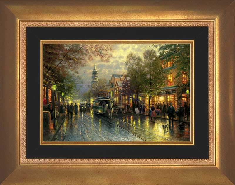 Evening on the Avenue - Antique Gold