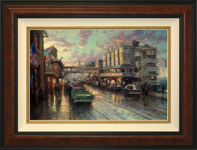 Cannery Row Sunset -- Burlwood