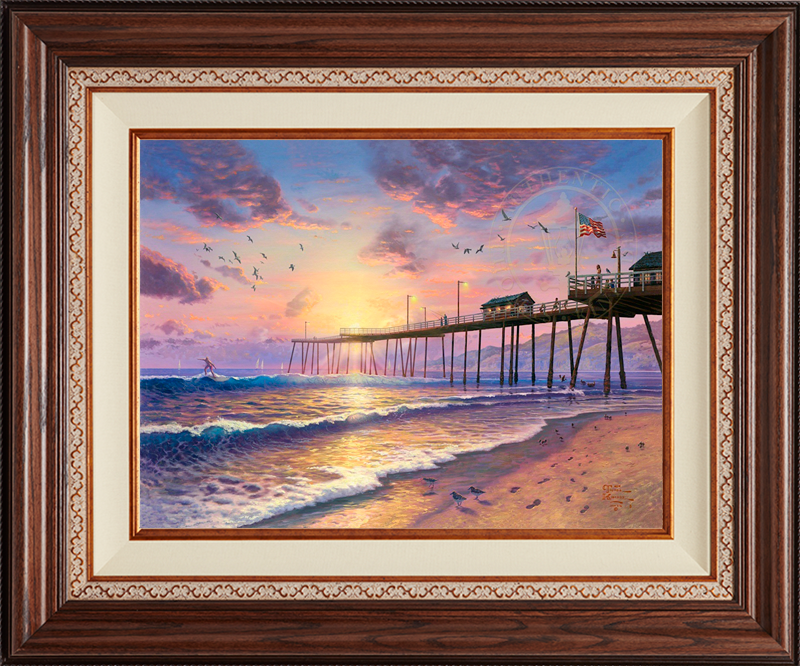 Footprints in the Sand, Pismo Pier - Deluxe Walnut-New Walnut