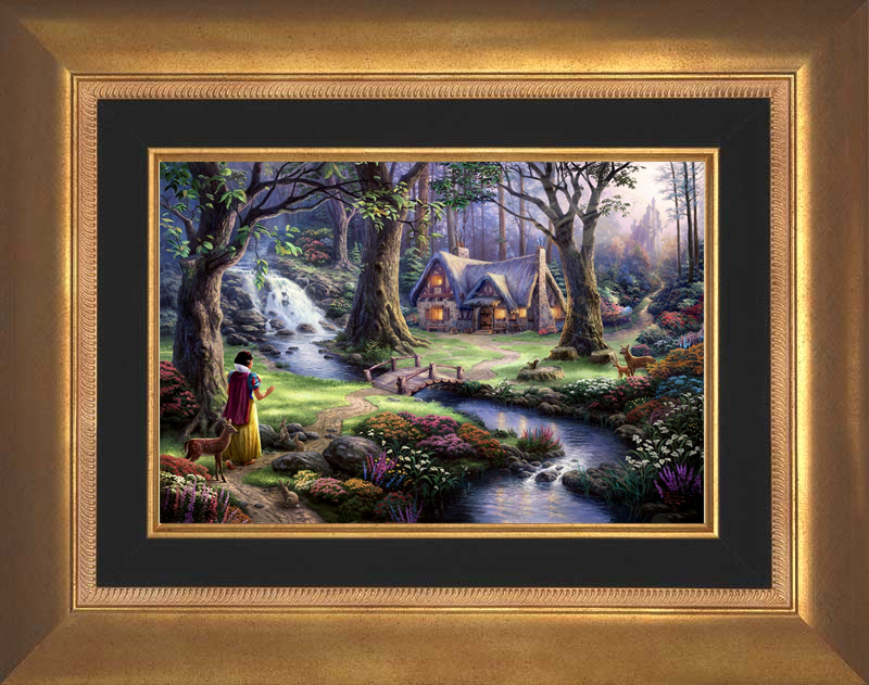 Snow White Discovers the Cottage - Aurora Gold