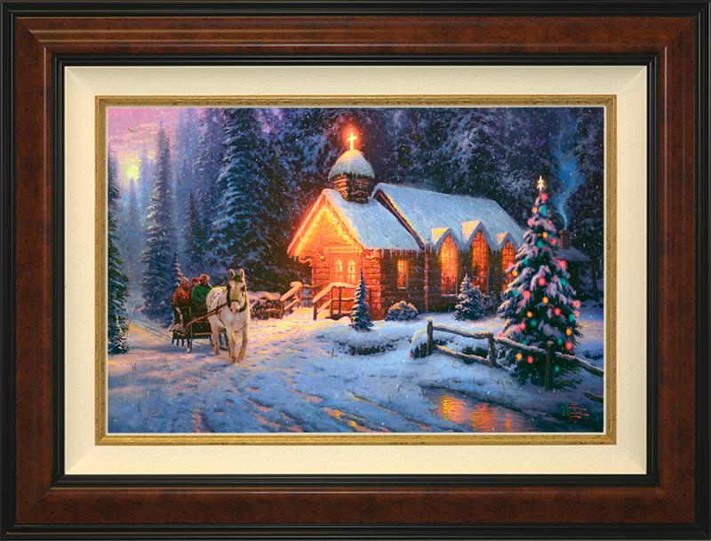 Christmas Chapel I - Burlwood