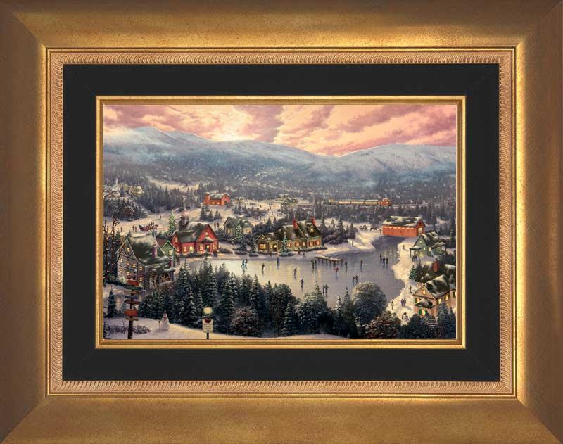 Sunset on Snowflake Lake - Aurora Gold
