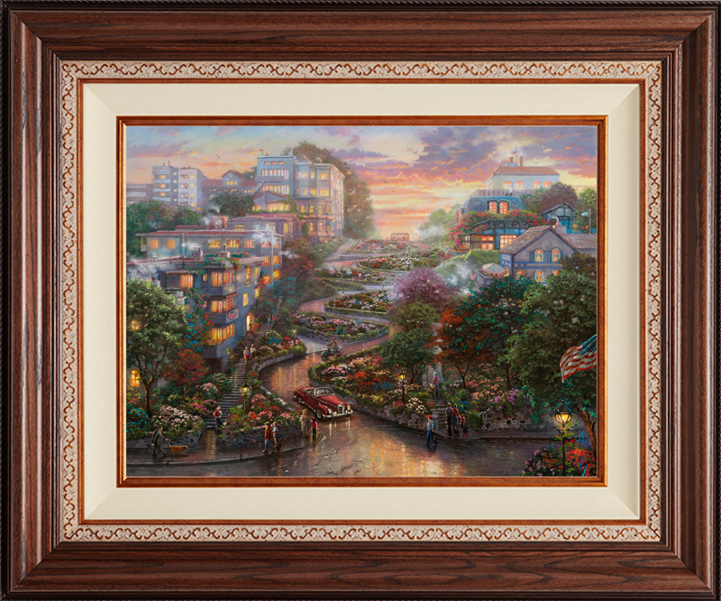 San Francisco, Lombard Street II - Deluxe Walnut-New Walnut