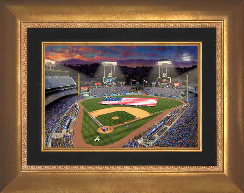 Evening at Dodgers Stadium -- Aurora Gold