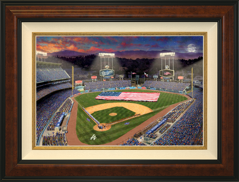 Evening at Dodgers Stadium -- Burlwood