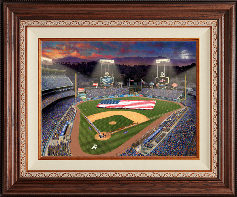 Evening at Dodgers Stadium -- Deluxe Walnut