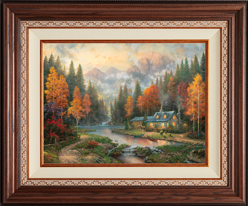 Evening at Autumn Lake - Deluxe Walnut-New Walnut