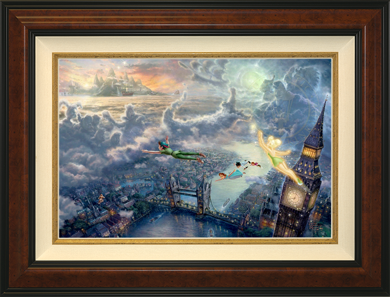 Tinker Bell and Peter Pan Fly to Neverland - Burlwood