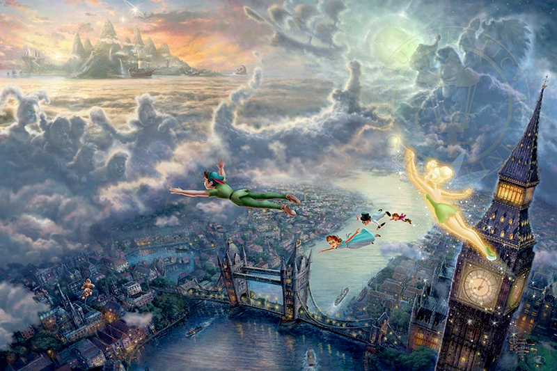 Tinkerbell and Peter Pan Fly to Neverland