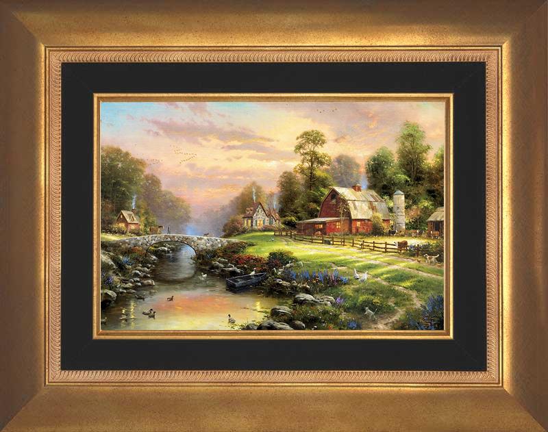 Sunset at Riverbend Farm -- Aurora Gold