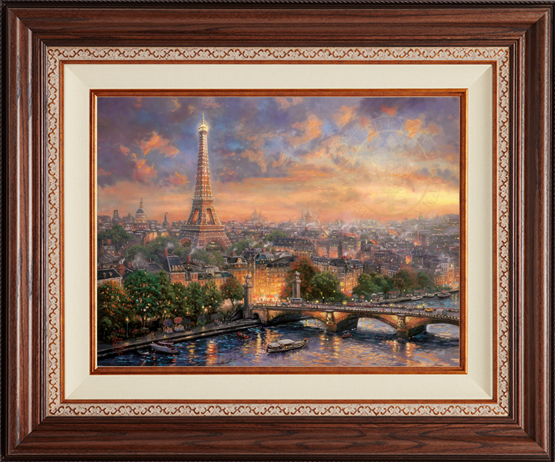 Paris, City of Love -- Deluxe Walnut