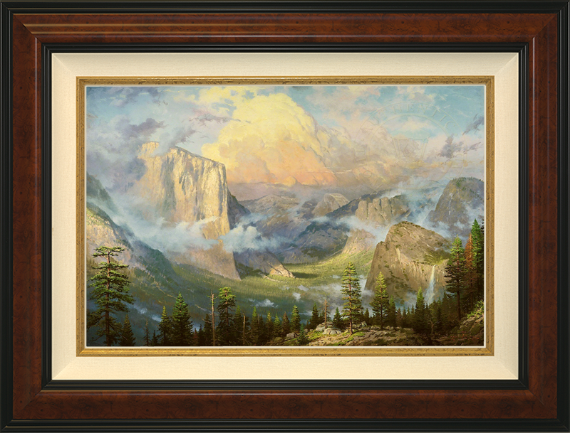 Yosemite Valley, Late Afternoon, Artist's Point of View -- Burlwood