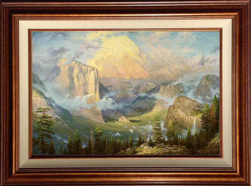 Yosemite Valley, Late Afternoon, Artist's Point of View -- Copper