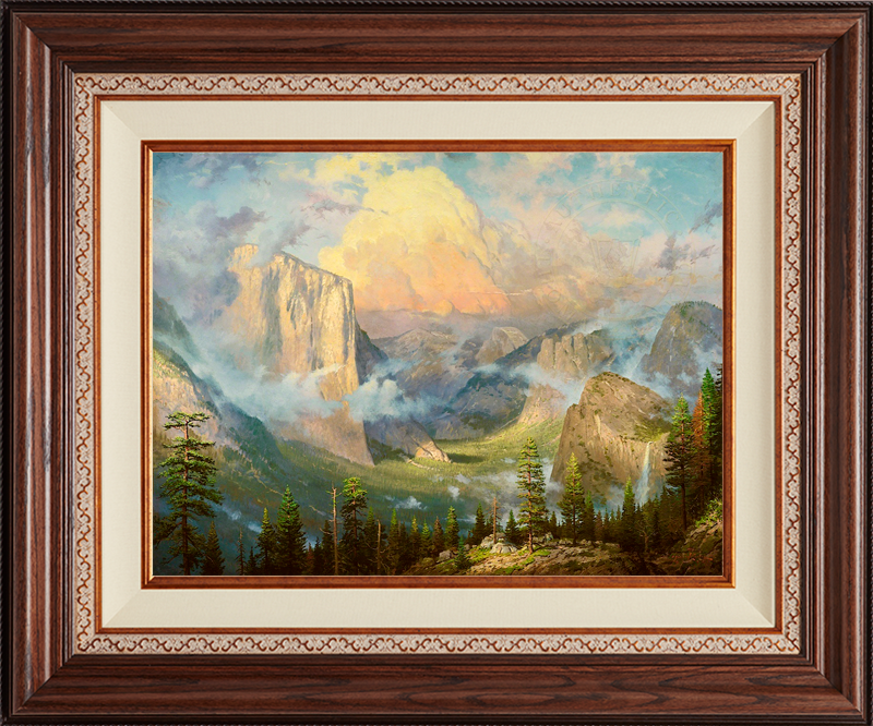 Yosemite Valley, Late Afternoon, Artist's Point of View -- Deluxe Walnut