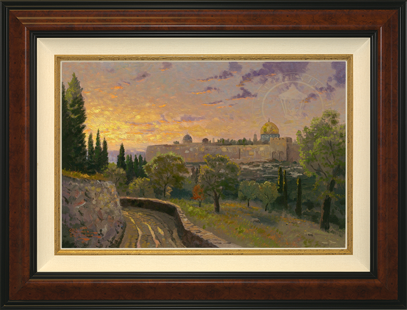 Jerusalem Sunset - Burlwood