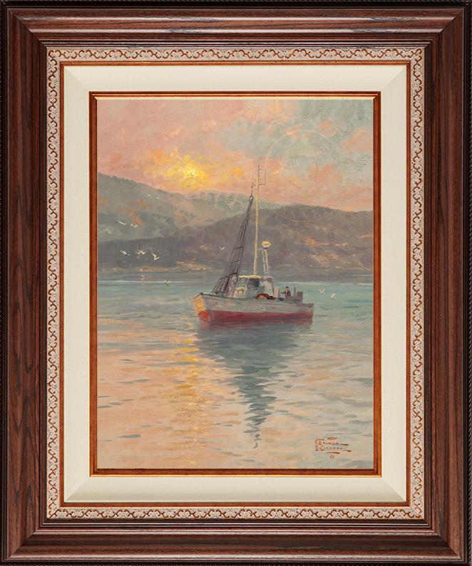 Sunrise, Sea of Galilee - Deluxe Walnut