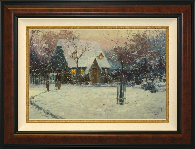 A Winter's Cottage - Burlwood