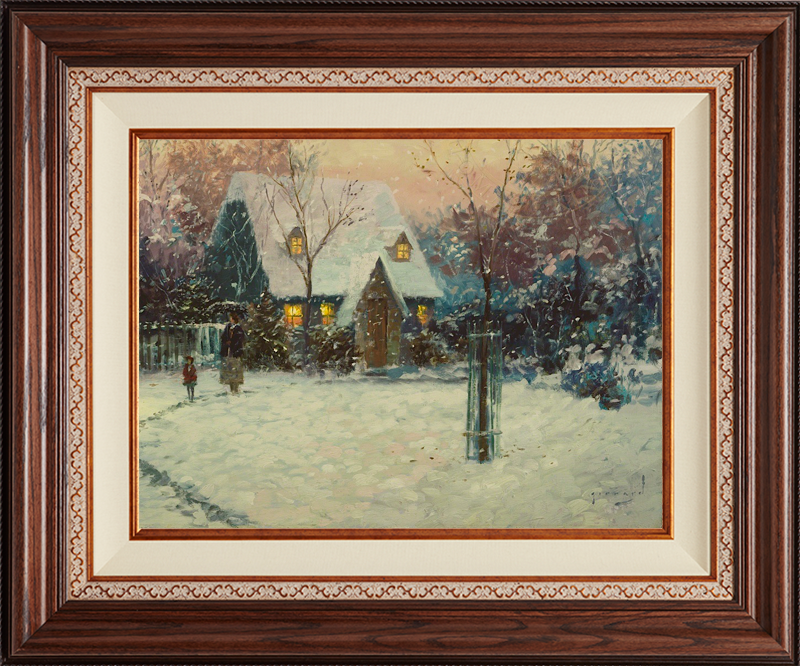 A Winter's Cottage - Deluxe Walnut