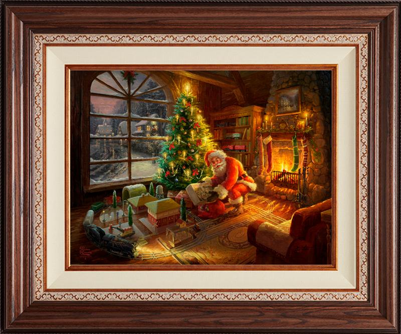 Santa's Special Delivery -- Deluxe Walnut