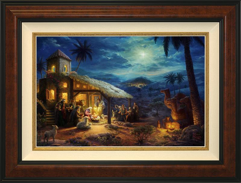 The Nativity -- Burlwood