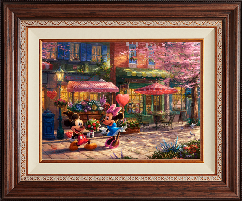 Mickey and Minnie -- Sweetheart Café -- Deluxe Walnut
