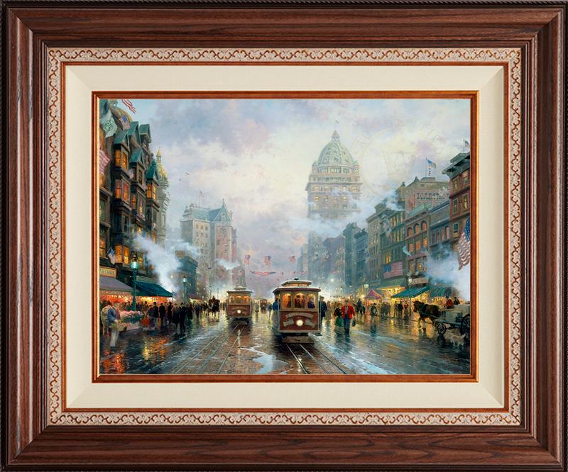 San Francisco, Market Street -Deluxe Walnut