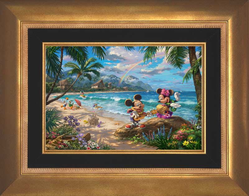 Mickey and Minnie in Hawaii - Aurora Gold