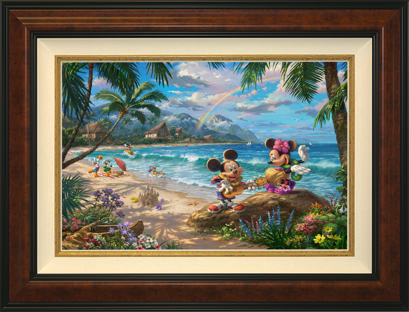 Mickey Minnie in Hawaii - Burlwood