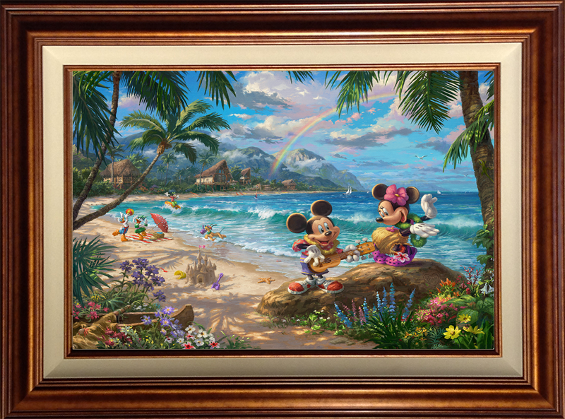 Mickey and Minnie in Hawaii - Copper