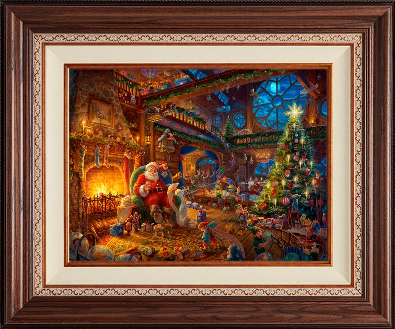 Santa's Workshop -- Deluxe Walnut