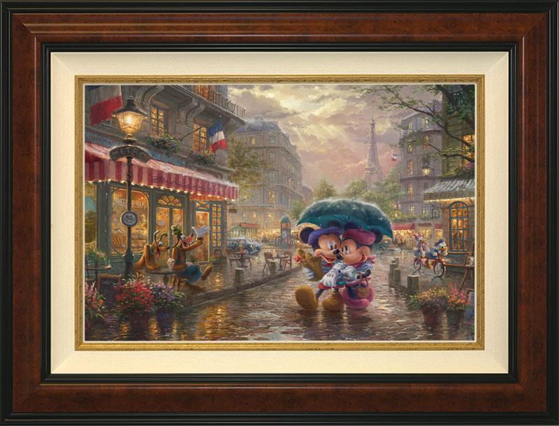 Mickey Minnie in Paris - Burlwood